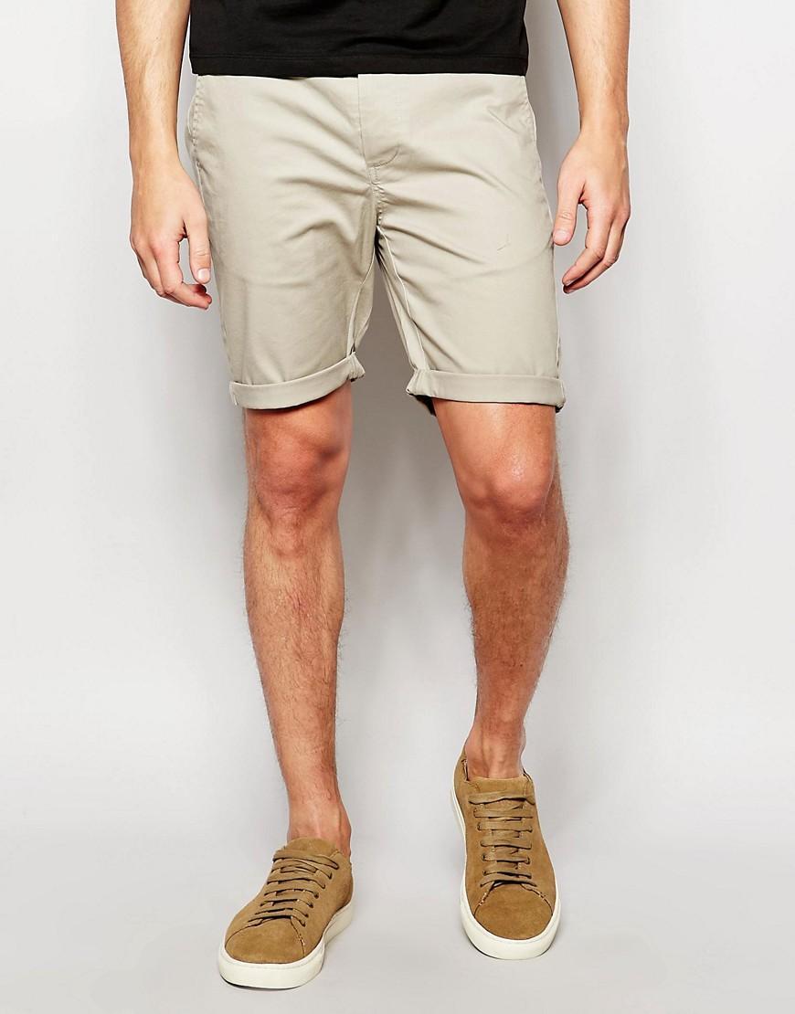 River Island Mens Stone Shorts