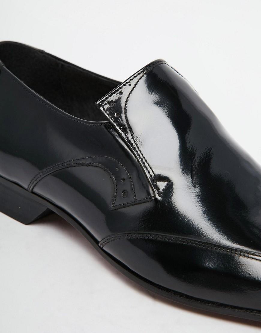 Jeffery West Black Brogue Shoes
