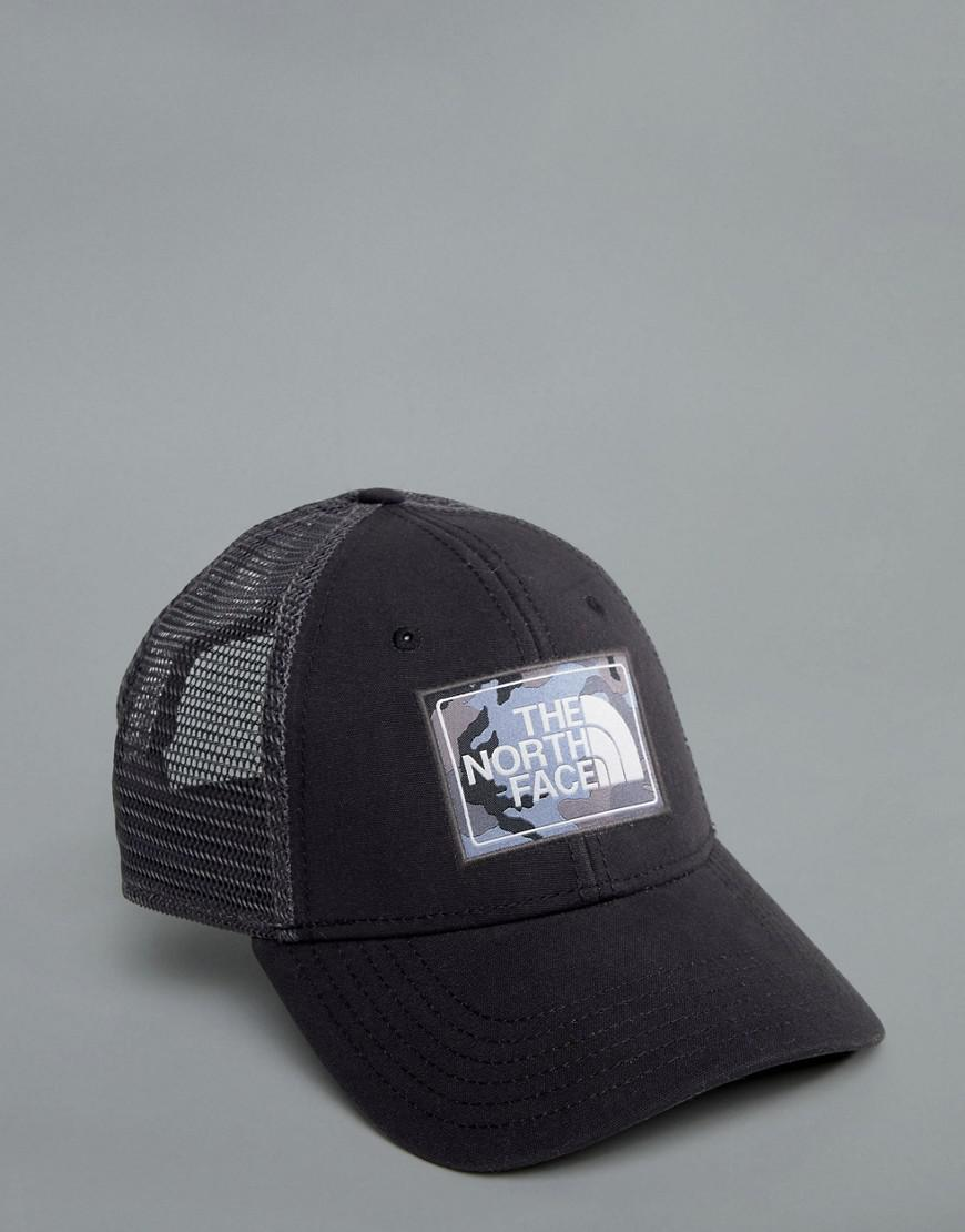 The North Face Mudder Trucker Cap In Black grey Camo in Black for Men - Lyst af45c300168f