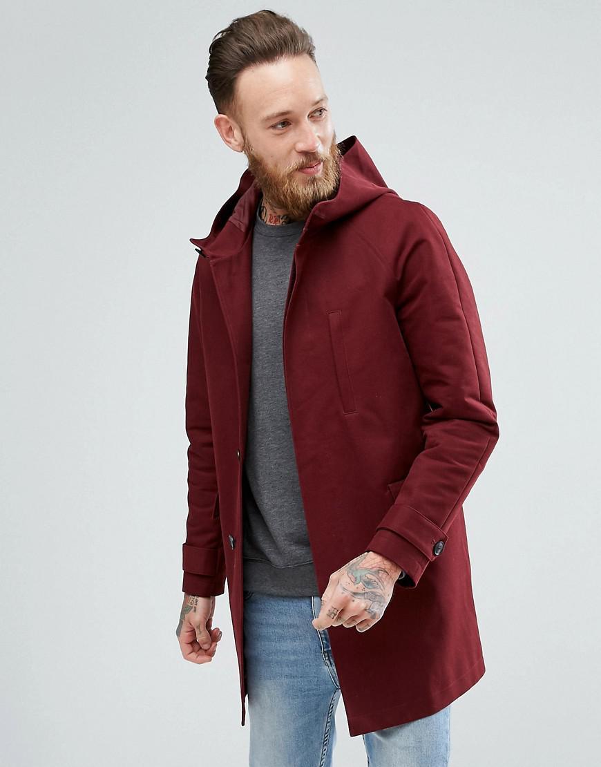 ASOS. Men's Red Shower Resistant Smart Jacket ...
