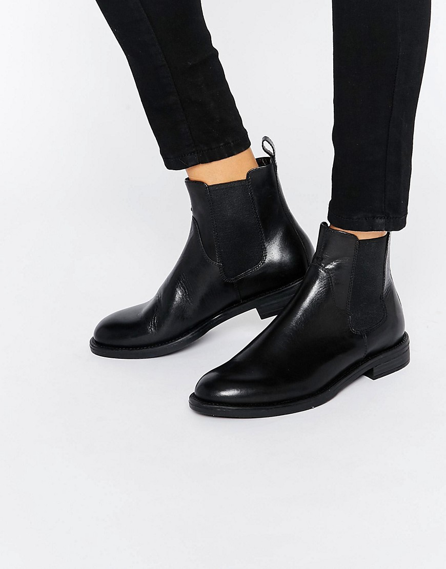 vagabond amina black leather chelsea boots in black lyst
