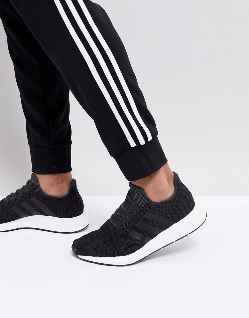 sports shoes 360e4 d7abb Lyst - adidas Originals Swift Run Trainers In Black Cq2114 in Black ...
