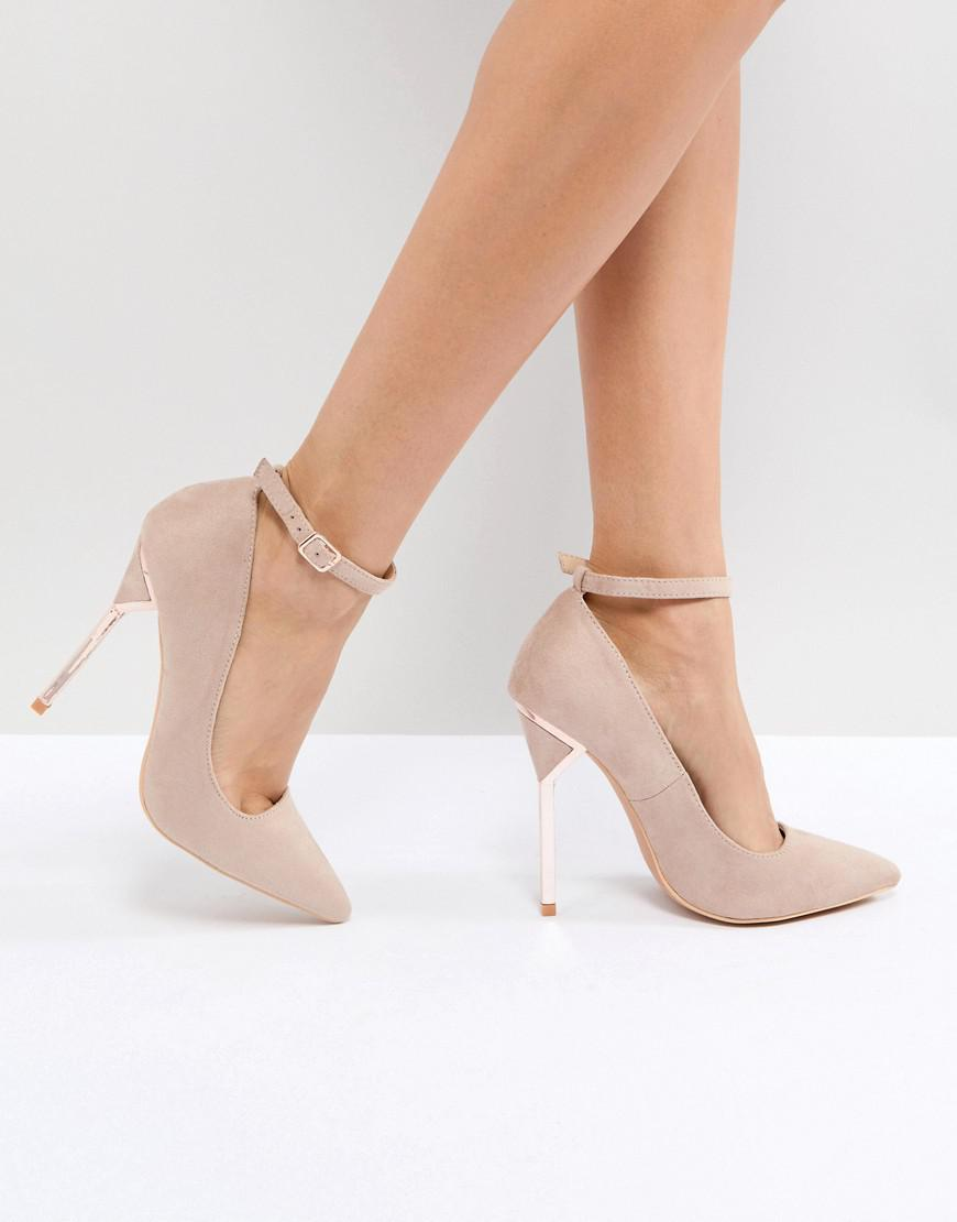 Lost Ink. Women's Gray Hero Taupe Hero Heel Court Shoes