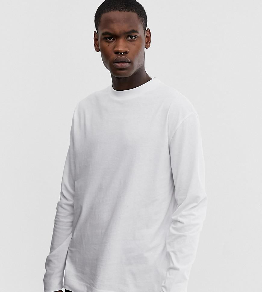 7a0c9594a59 Collusion Tall Regular Fit Long Sleeve T-shirt In White in White for ...