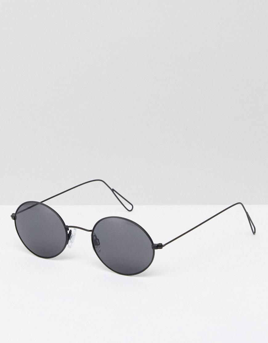 Retro Round Sunglasses - Silver Weekday 6xOkZ0