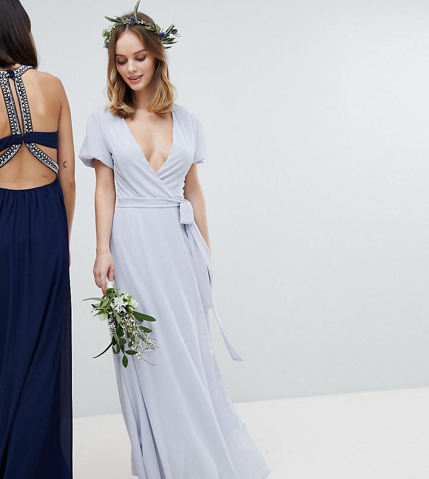 4c3ba8c6a7537 Tfnc Wrap Midi Bridesmaid Dress With Embellished Shoulder