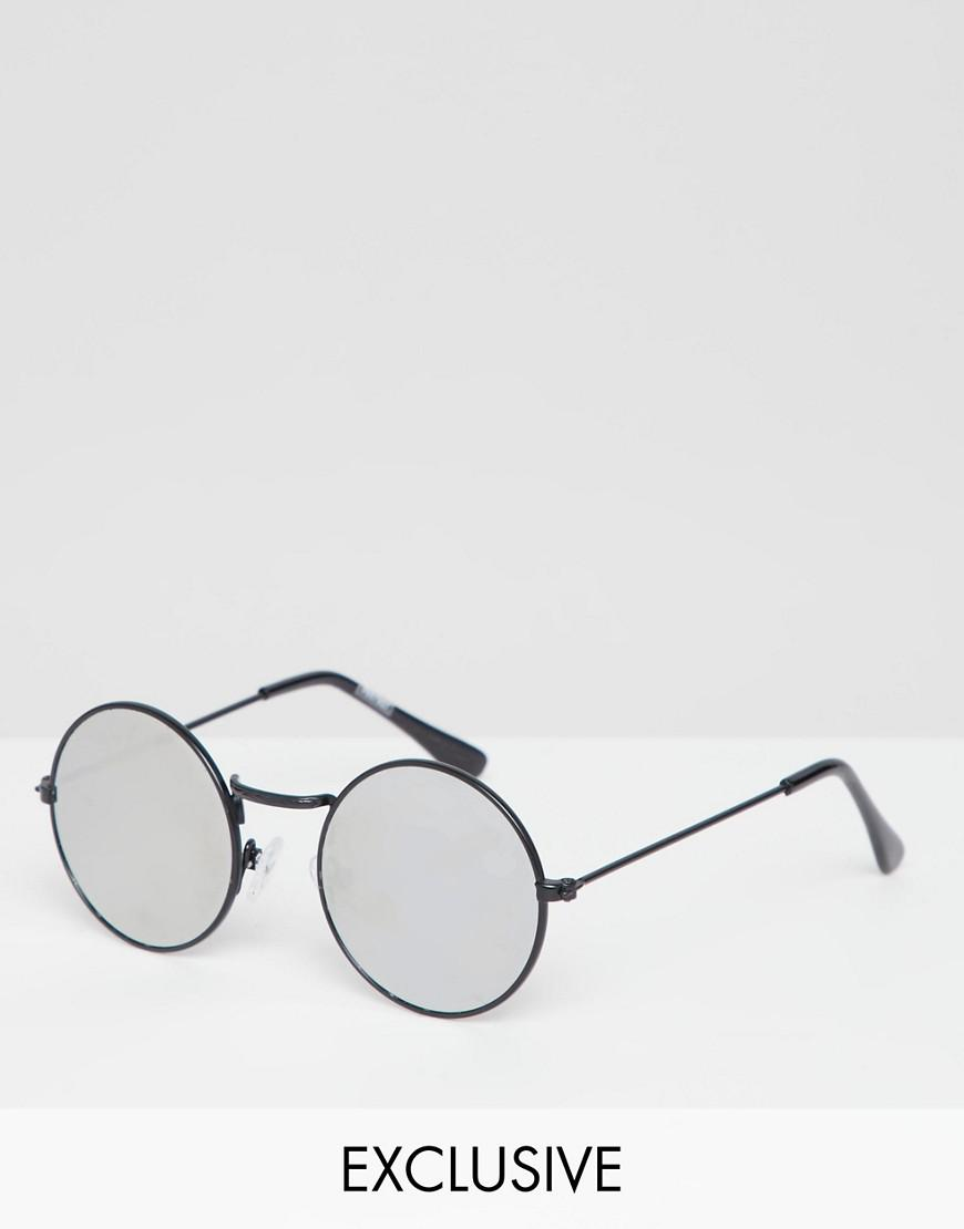 c7b1c631742 Reclaimed (vintage) Inspired Round Sunglasses With Mirrored Lens in ...