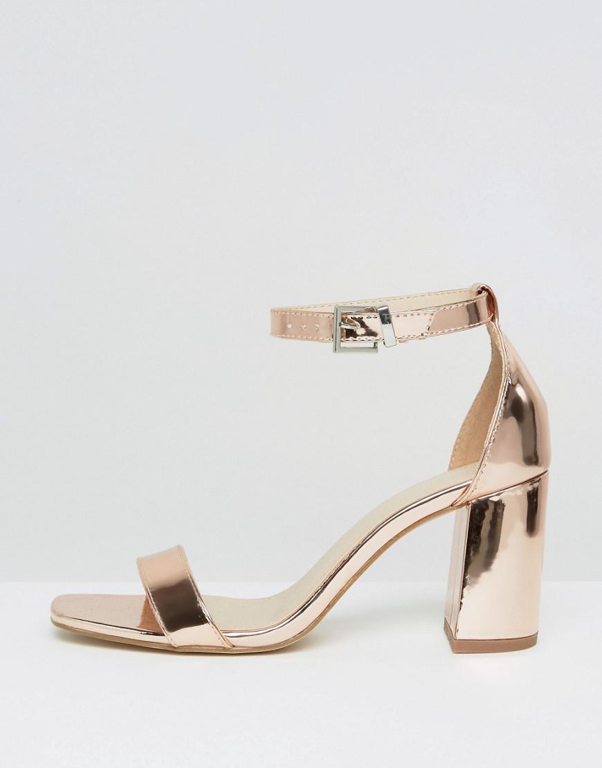 54973d1578c ASOS Hayden Block Heeled Sandals in Natural - Lyst