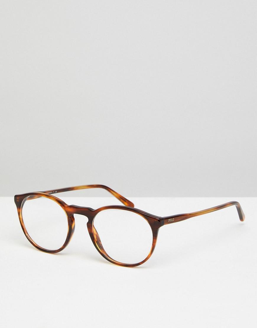 edd872501f Polo Ralph Lauren Round Optical Frames With Demo Lenses In Tort 50mm ...