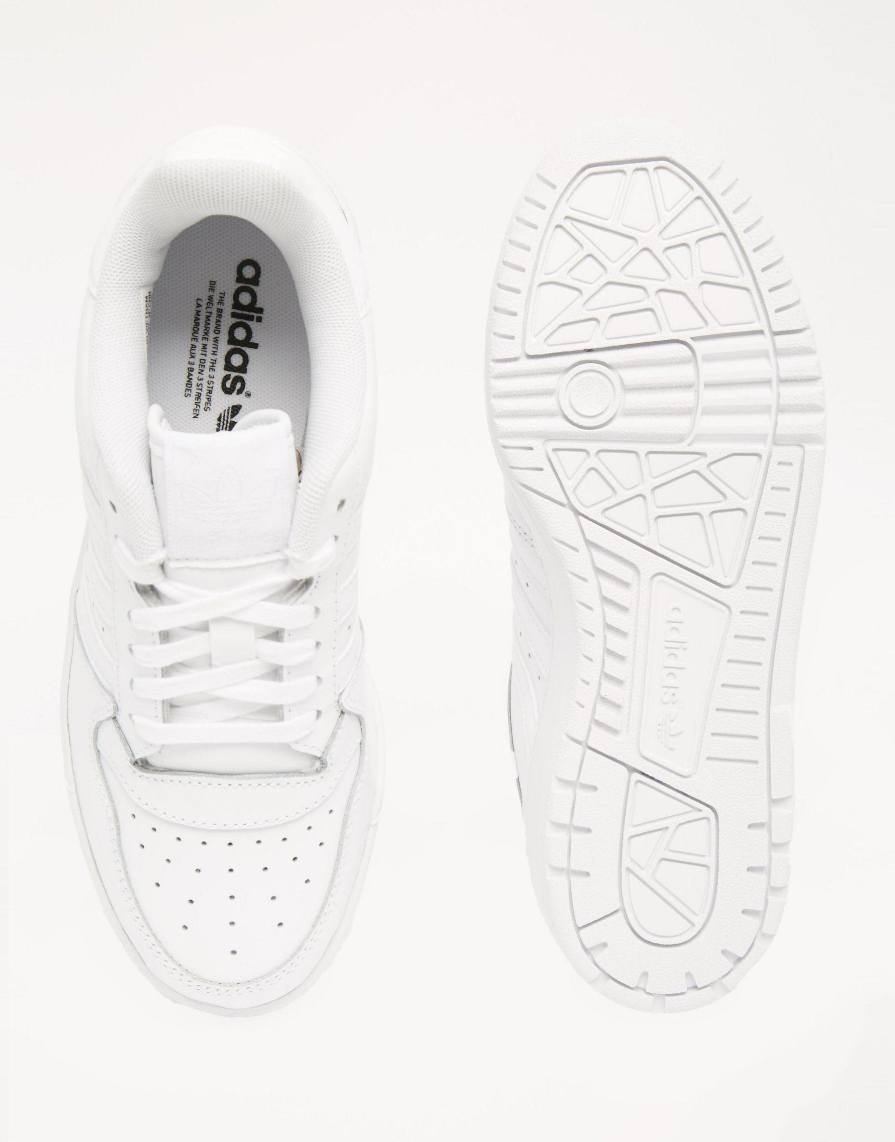 Lyst - adidas Originals Orginals White Leather Attitude Revive Trainers in  White ea5f8d1326c5f