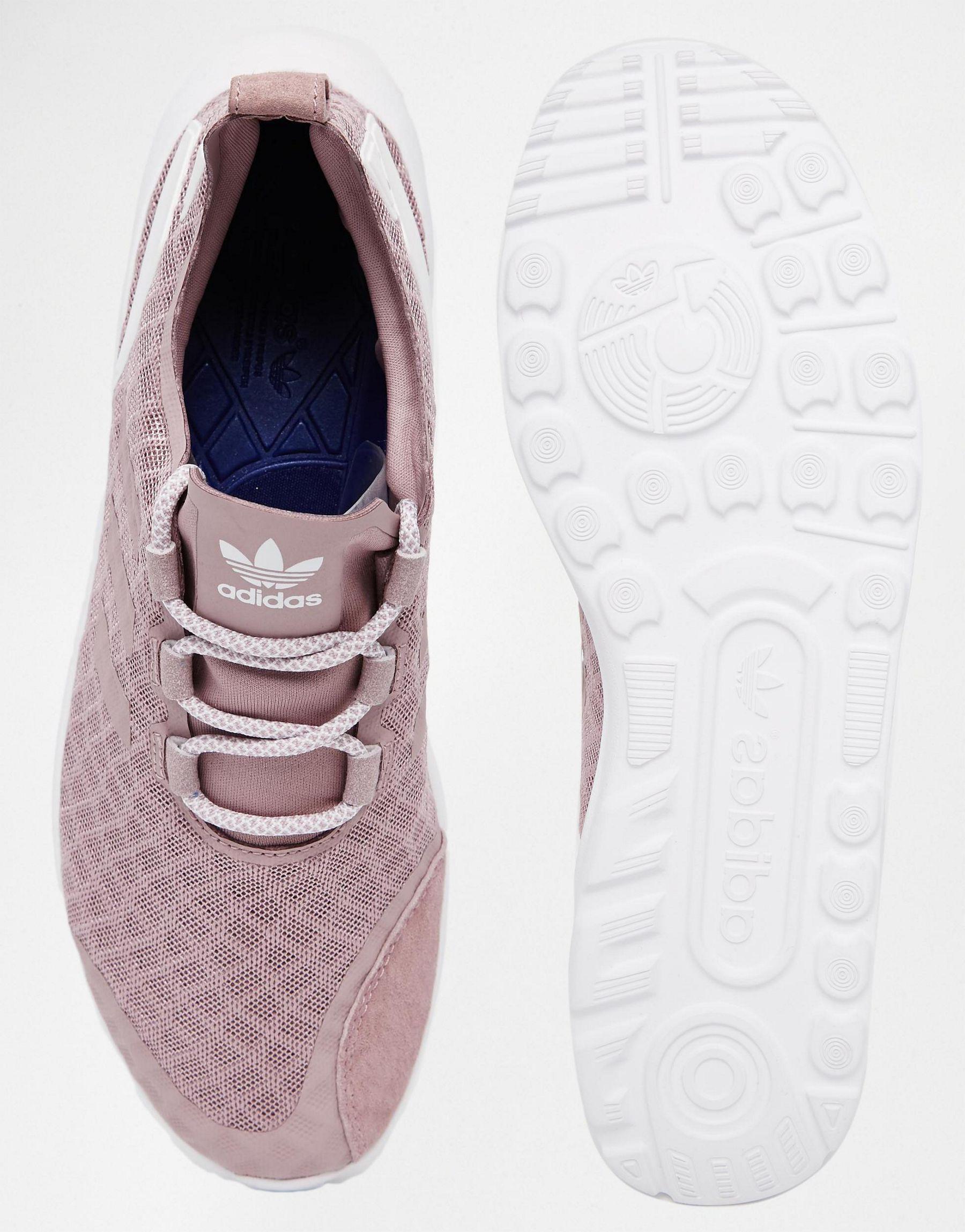Lyst - adidas Originals Originals Purple Zx Flux Verve Mesh Trainers ... 1035e9b858