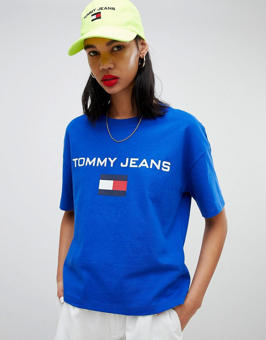 f04235dd Tommy Hilfiger Tommy Jean 90s Capsule 5.0 Logo T-shirt in Blue - Lyst