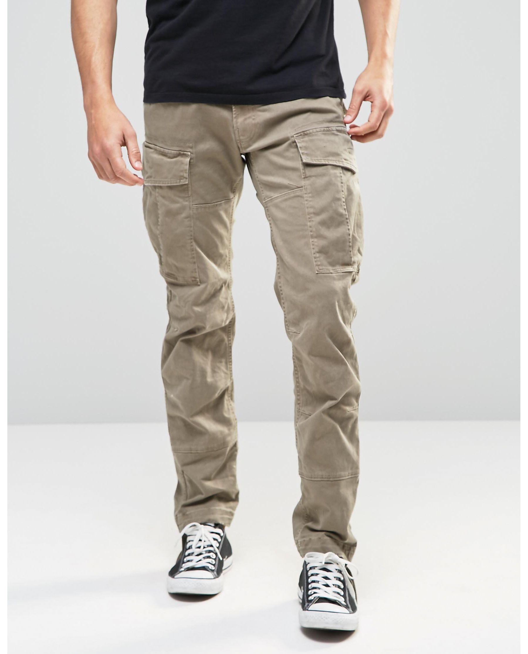 g star raw cargo pants rovic slim fit stretch twill beige. Black Bedroom Furniture Sets. Home Design Ideas