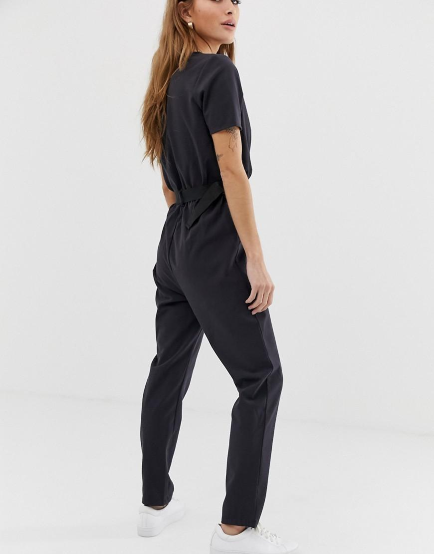 70a0e8e4aae Lyst - Noisy May Petite Utility Buckled Jumpsuit in Black