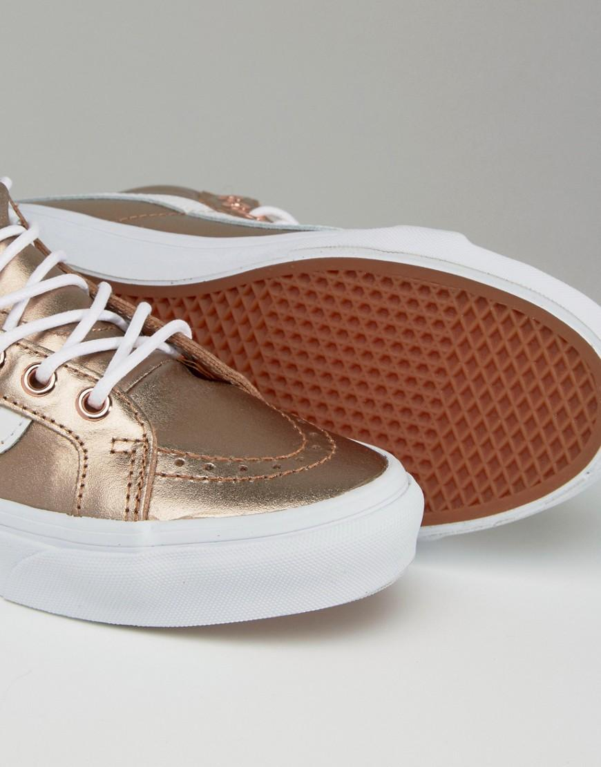 vans rose gold trainers