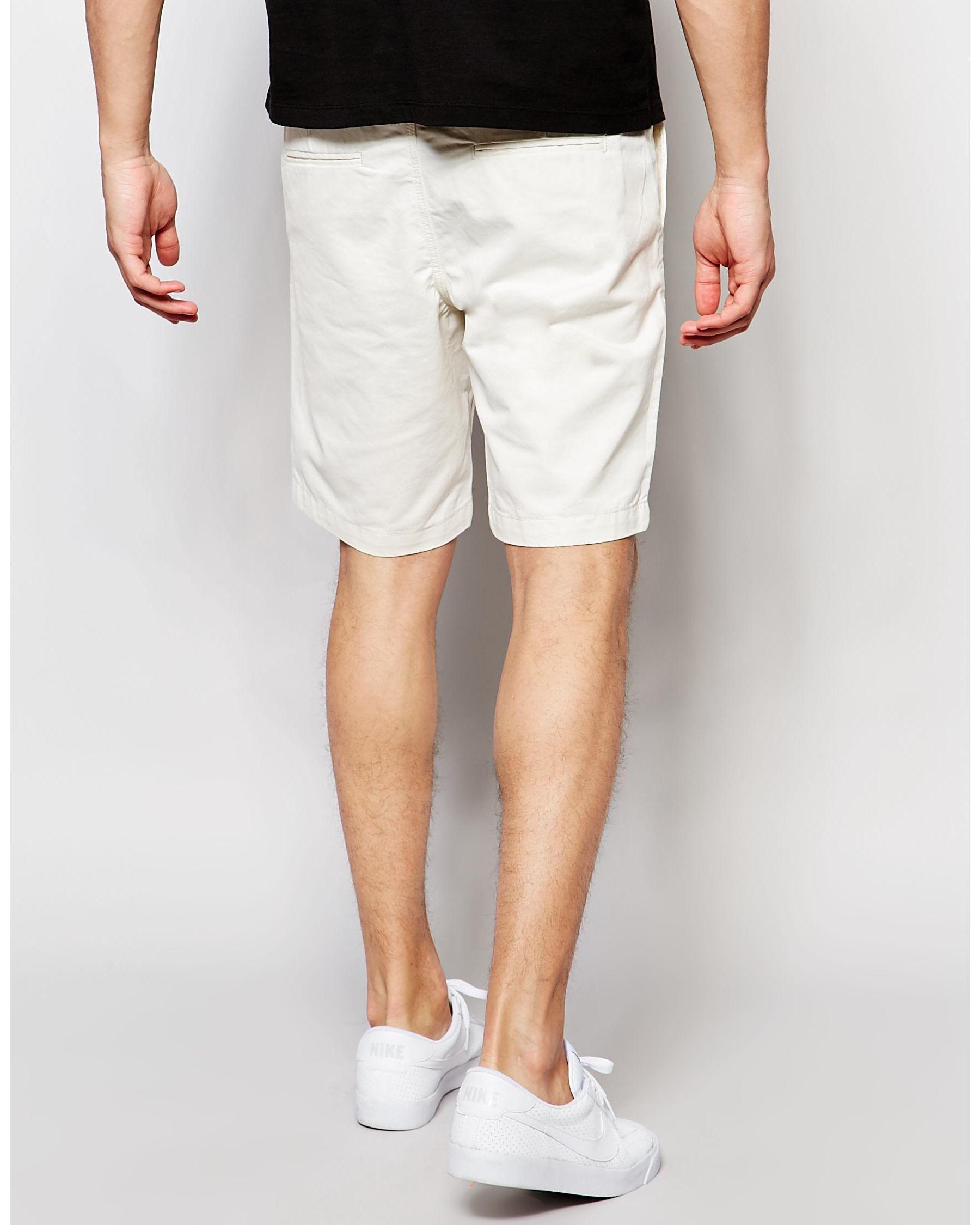 jack jones chino shorts in white for men lyst. Black Bedroom Furniture Sets. Home Design Ideas