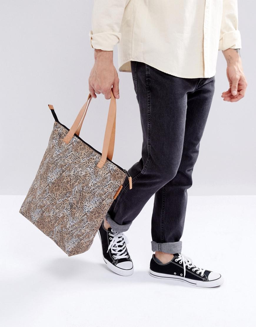 Lyst - Eastpak Soukie Tote Bag In Leopard in Black 589558a26a