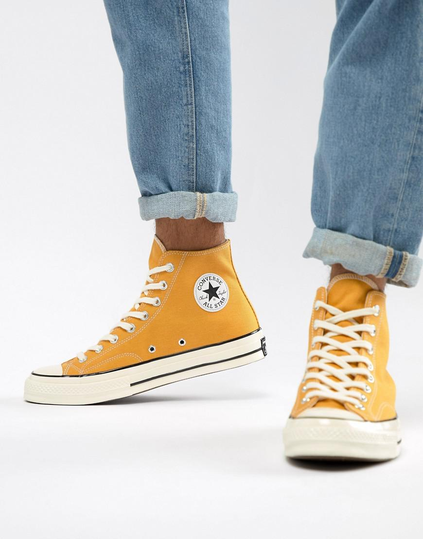 Lyst - Converse Chuck Taylor All Star  70 Hi Trainers In Yellow ... 5a90db53f