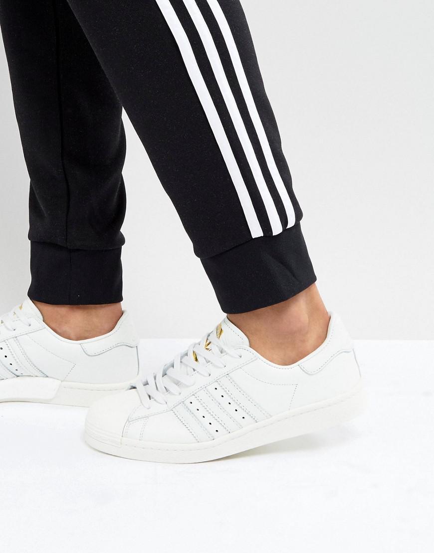 adidas superstar formatori in bianco originali in bianco per gli uomini lyst