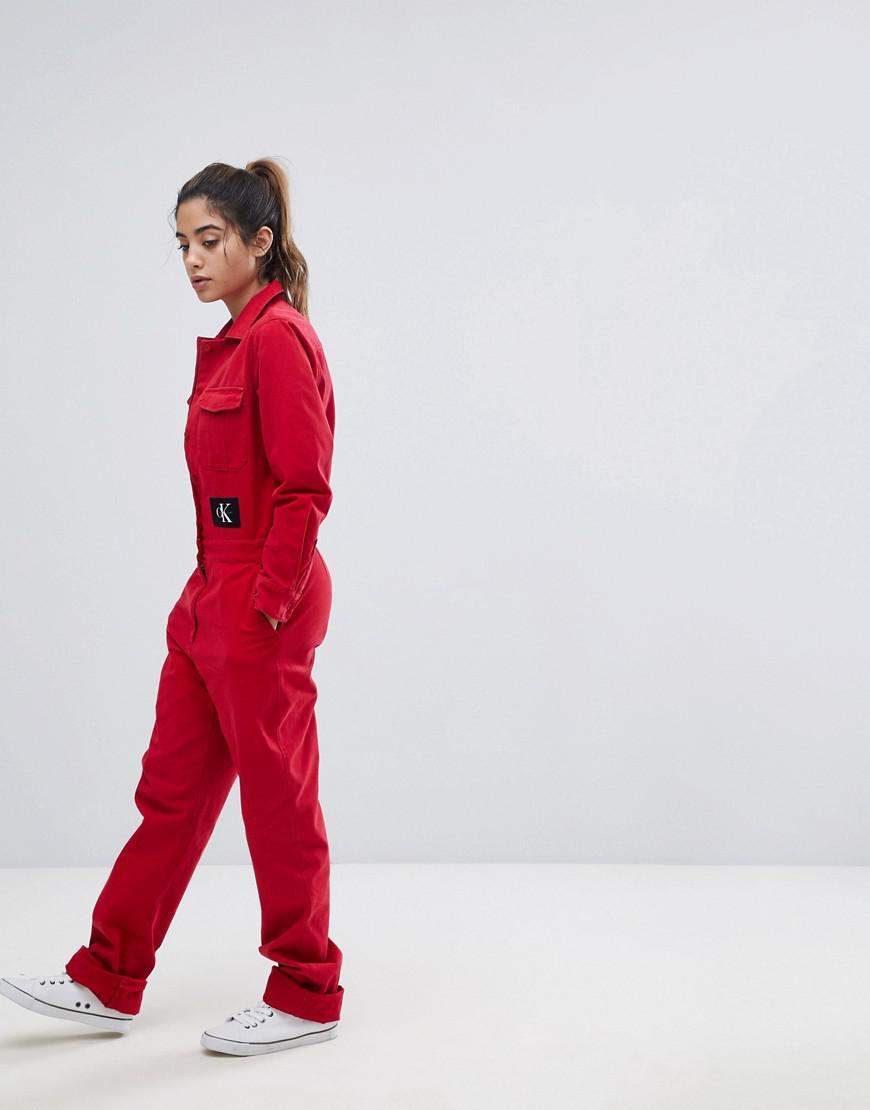426394483b44 Calvin Klein Jeans Boilersuit in Red - Lyst