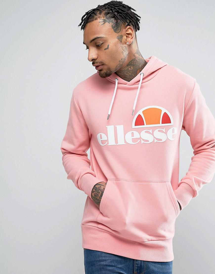 lyst ellesse hoodie with classic logo in pink in pink for men. Black Bedroom Furniture Sets. Home Design Ideas