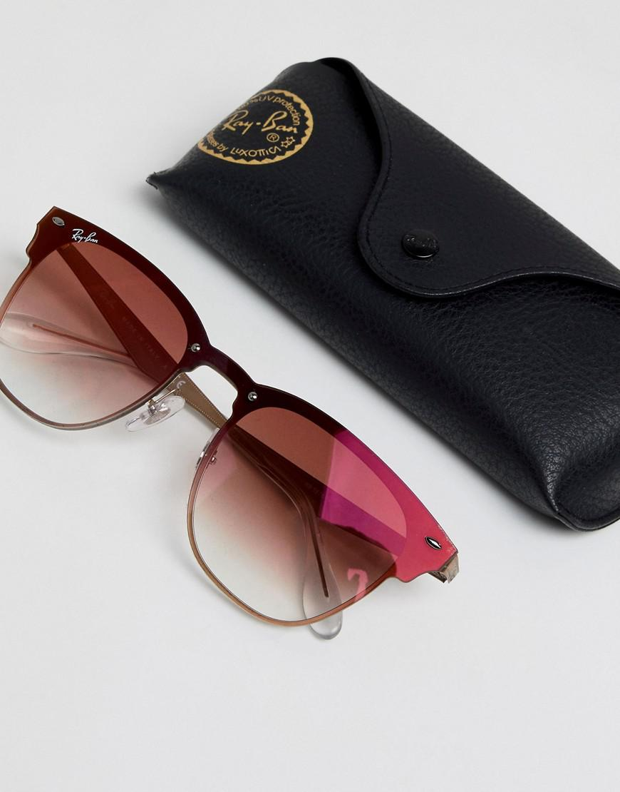 d9f2b9b8da Ray-Ban 0rb3576 Clubmaster Sunglasses in Pink for Men - Lyst