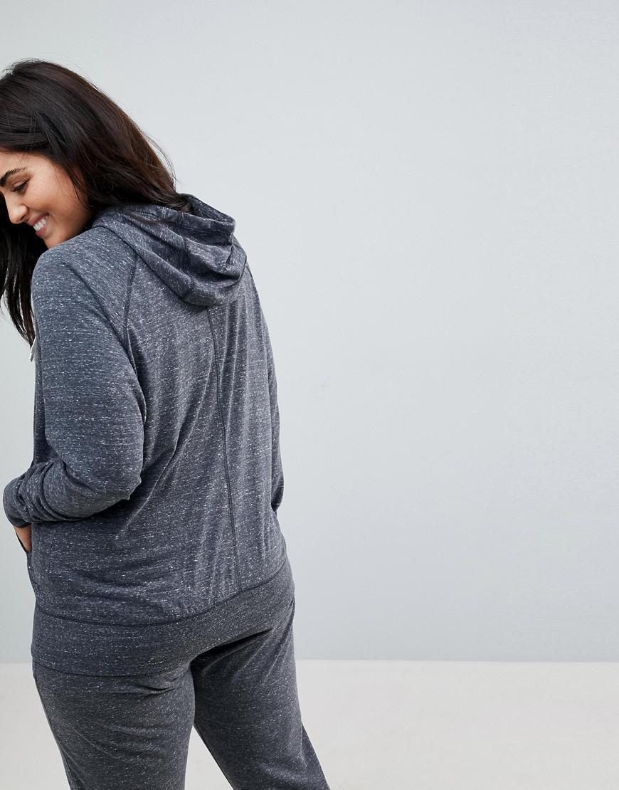 750af002bdf Nike Plus Gym Vintage Full Zip Hoodie In Grey in Gray - Lyst