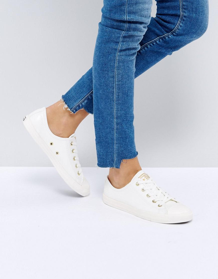 8011ac48d869 Converse Chuck Taylor All Star Dainty Trainers In Beige in Natural ...