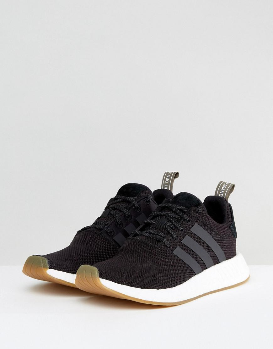 10639a1d985d1 adidas Originals Nmd R2 Sneakers In Black By9917 in Black for Men - Lyst