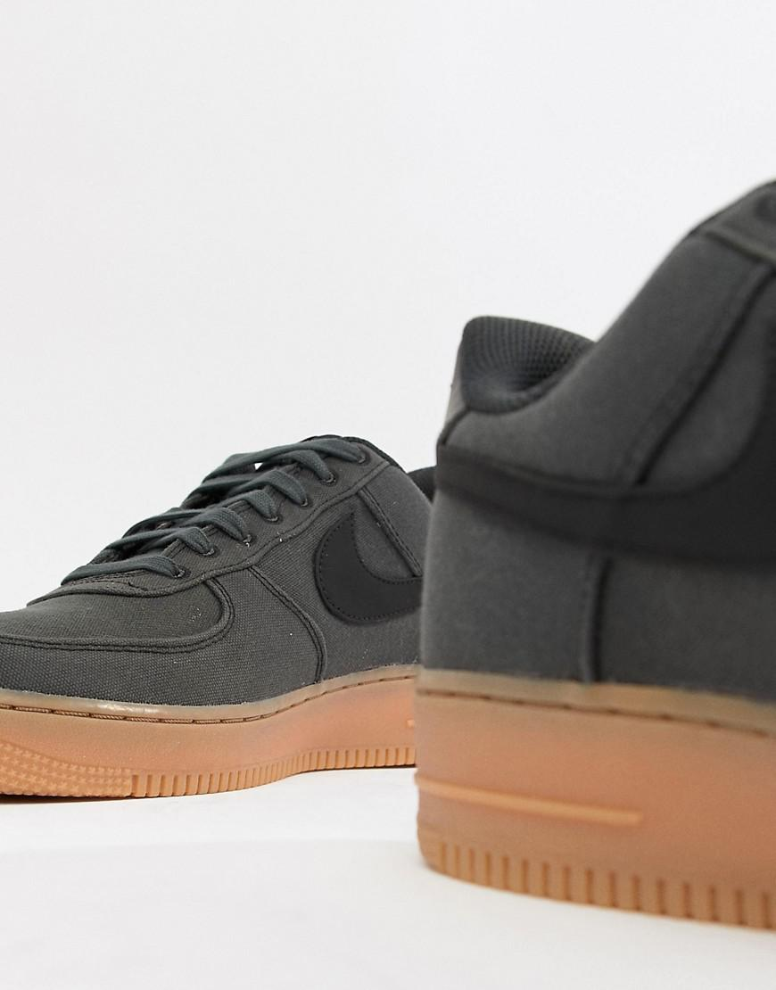250586b09152 Nike Air Force 1  07 Style Trainers With Gumsole In Black Aq0117-002 in  Black for Men - Lyst