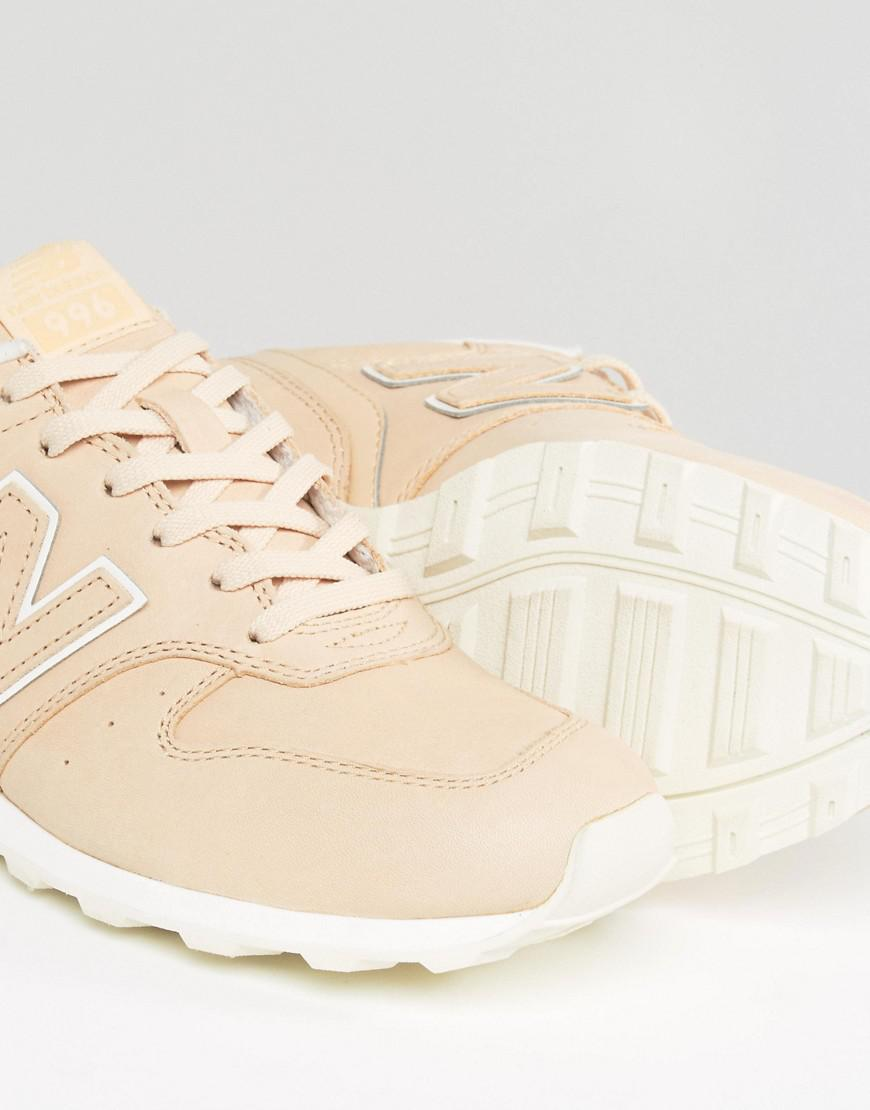 new balance 996 beige leather trainers