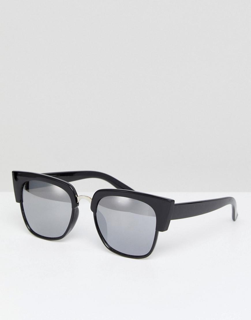 3bf2df226b Glamorous Black Oversized Square Sunglasses in Black - Lyst