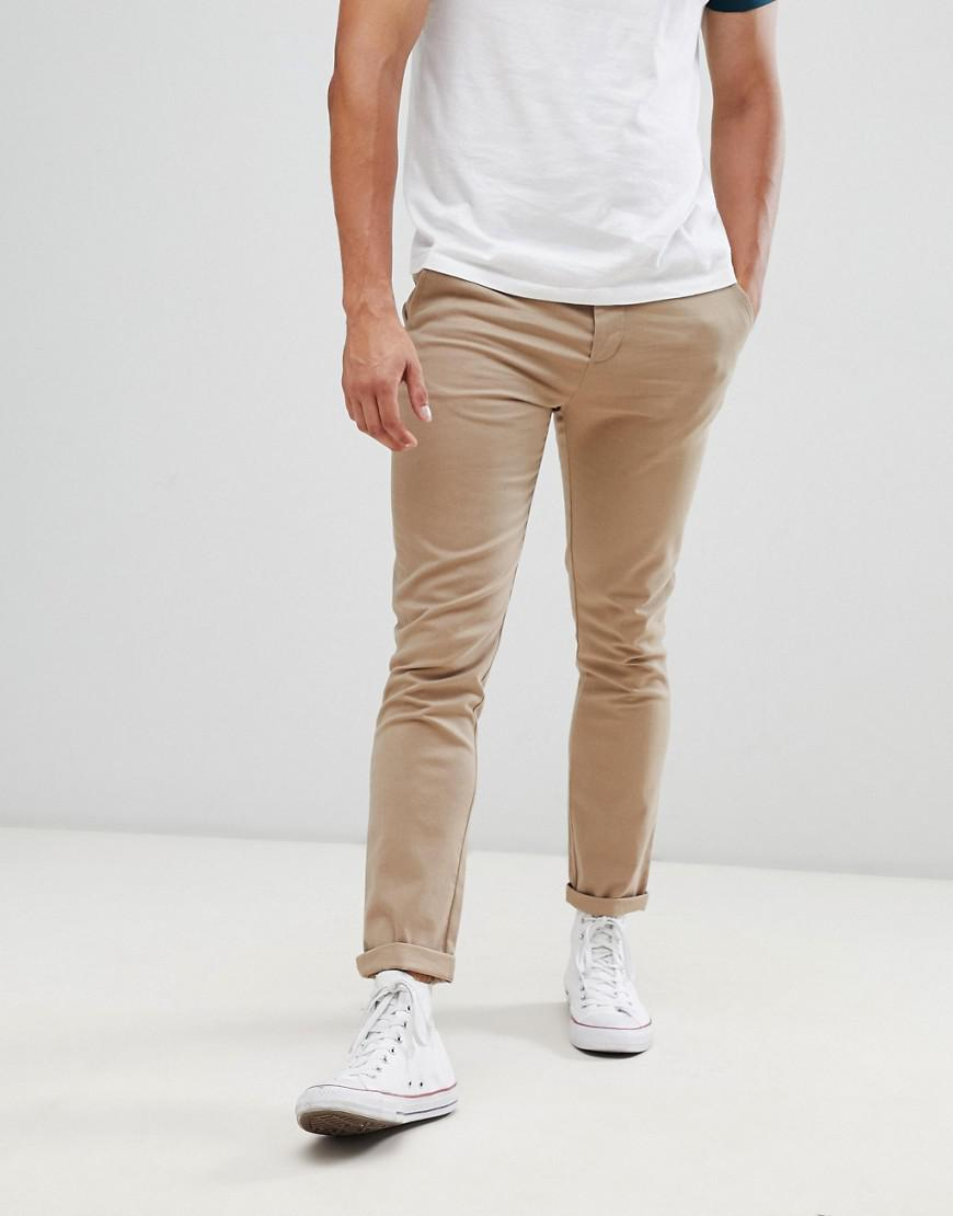 630621aa9ec837 ASOS Skinny Chinos In Stone in Natural for Men - Lyst