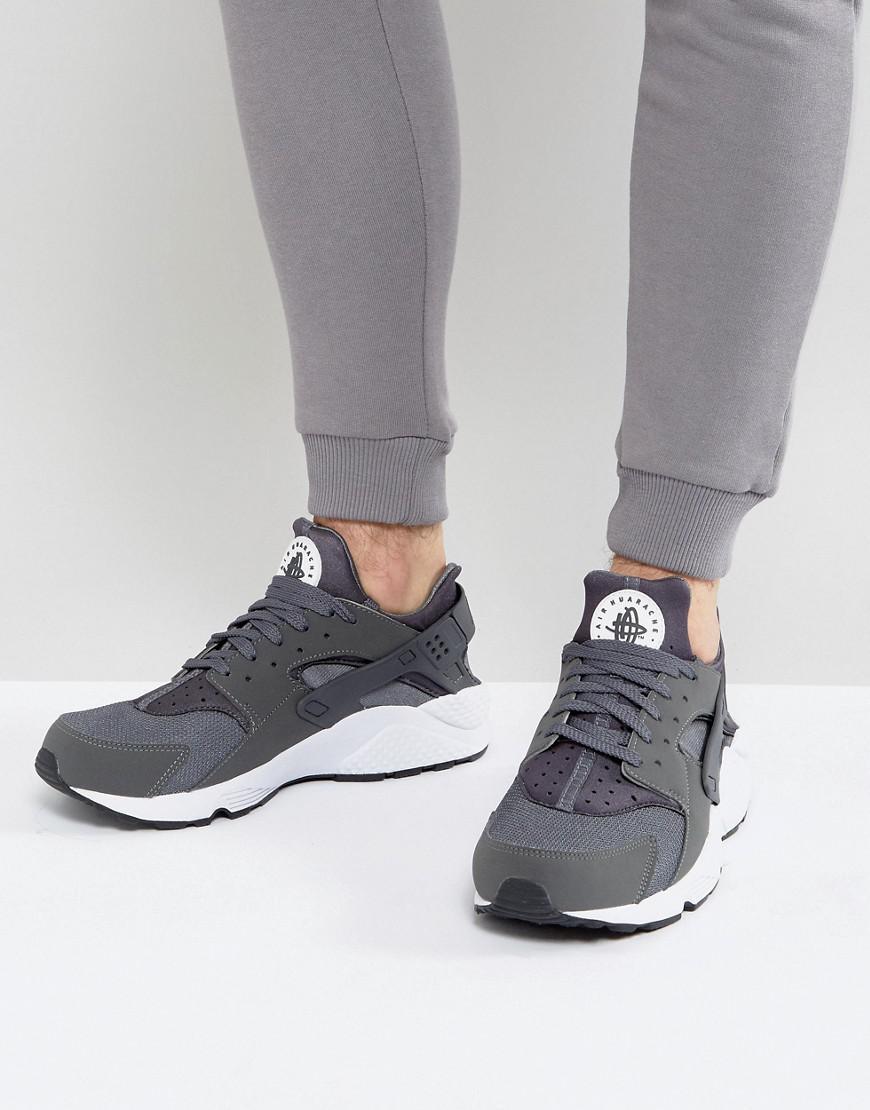 Nike. Men's Grey Air Huarache Run Trainers ...