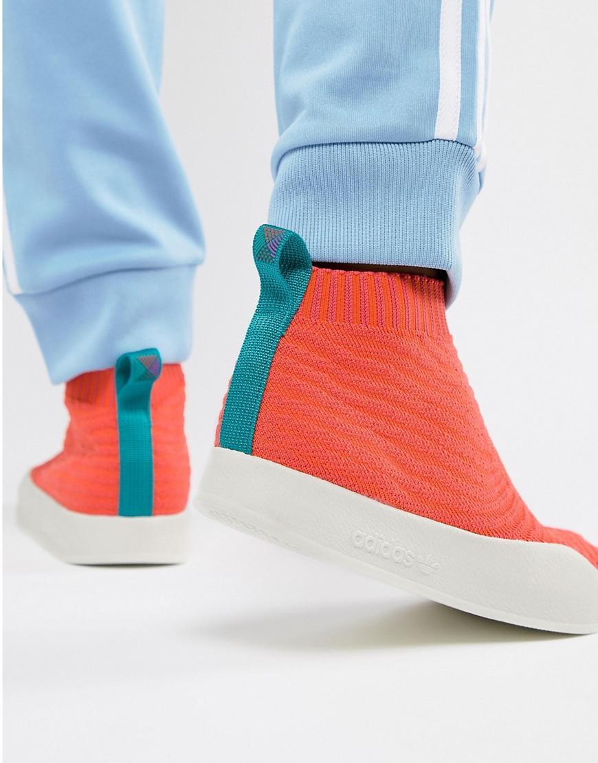 81b2d1584d76f adidas Originals. Men s Adilette Primeknit Sock Summer Trainers In Orange  Cm8227