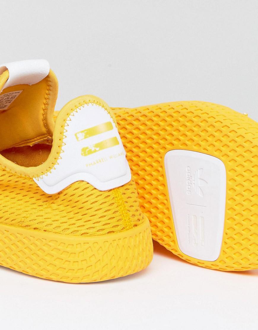 f0eac7e2a adidas Originals X Pharrell Williams Tennis Hu Sneakers In Yellow ...