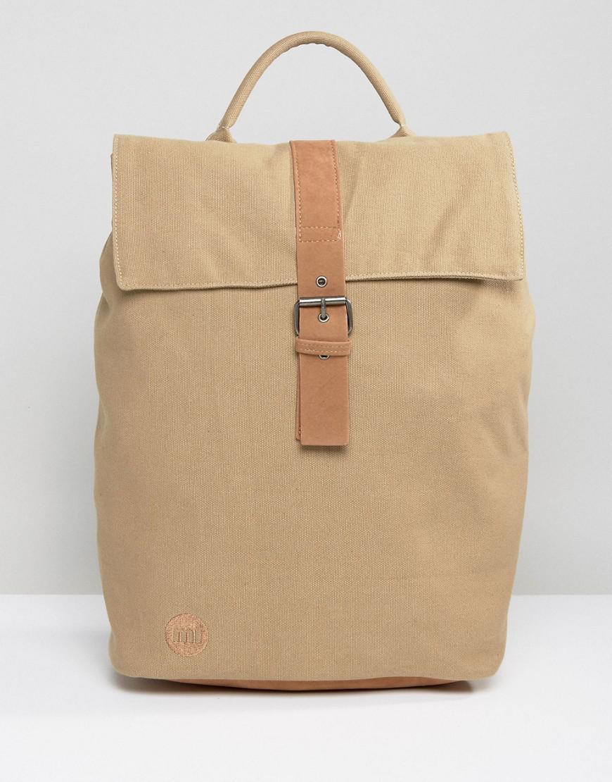 5ee52501e2734 Mi-Pac Day Pack Canvas Fold Top Backpack In Sand in Natural - Lyst
