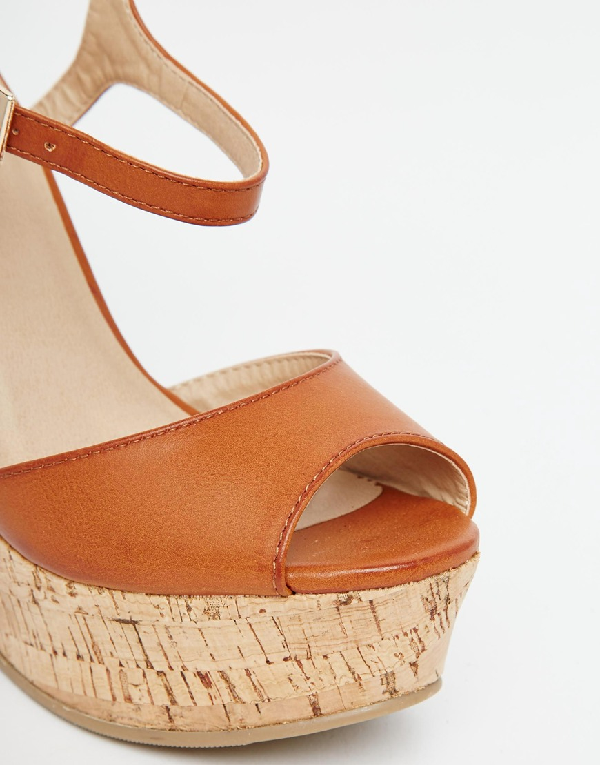 2c0e2cdcf58 Lyst - ASOS Twirl Wide Fit Wedges in Brown