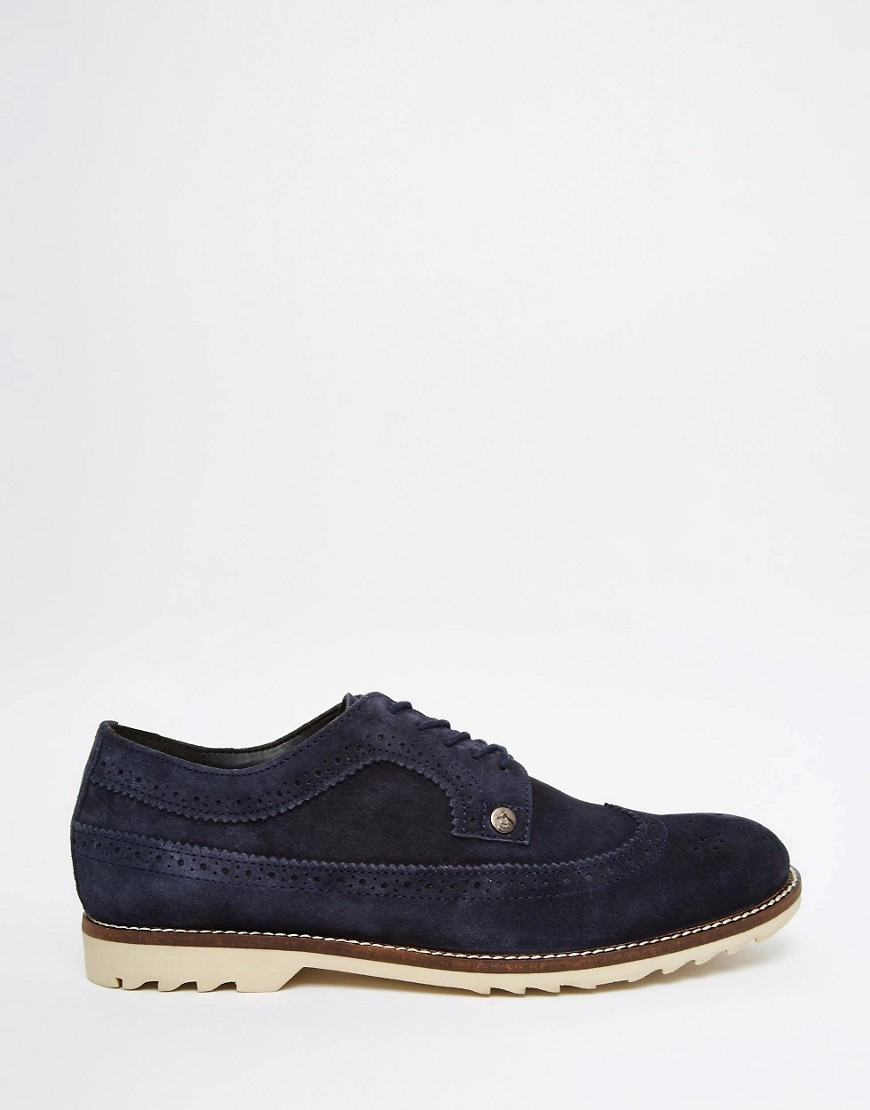 Original Penguin Mens Winchester Suede Shoes Navy