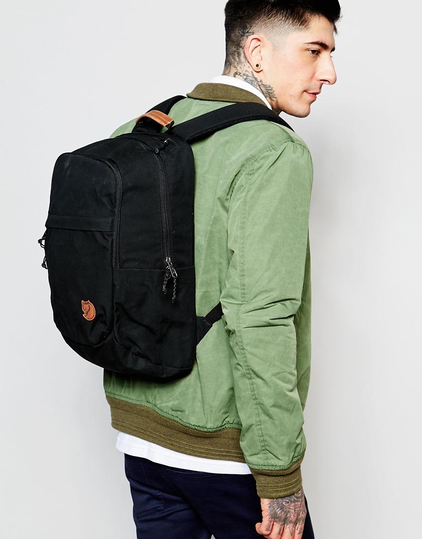 Lyst Fjallraven Raven Backpack 20l In Black