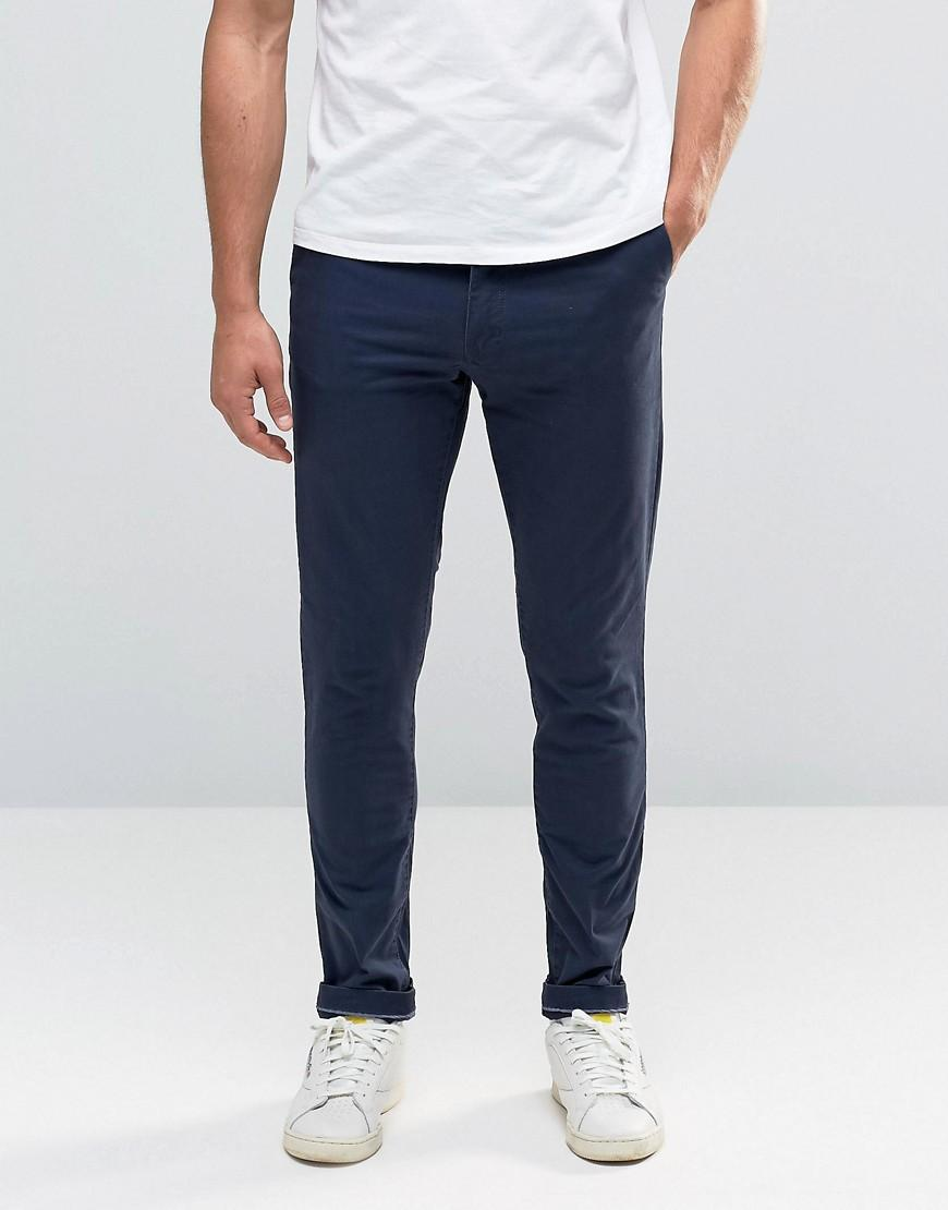 jack jones slim fit chino with stretch in blue for men. Black Bedroom Furniture Sets. Home Design Ideas