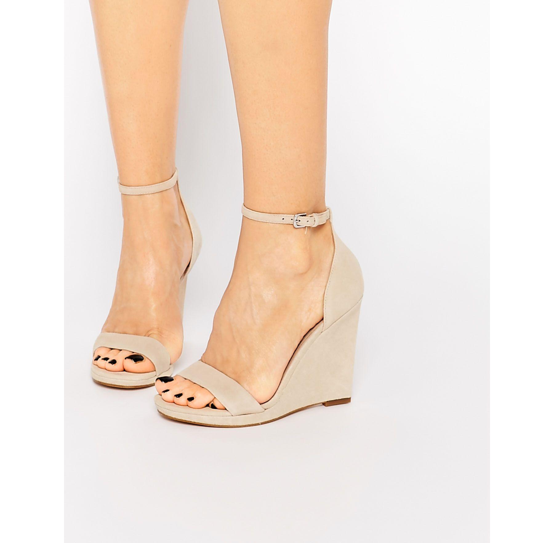 99945a1af42 Lyst - ALDO Ldo Elley Nude Wedge Sandals in Natural