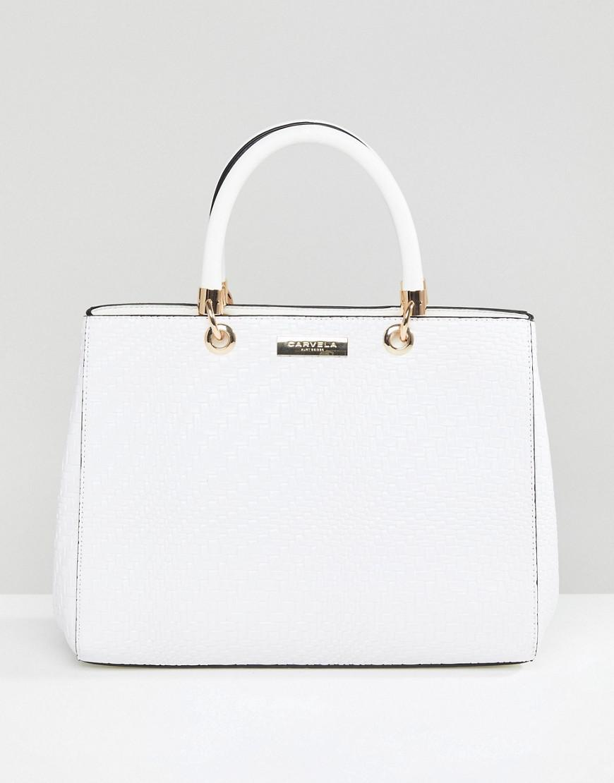 b1cbe0a1459c Carvela Kurt Geiger Structured Tote Bag in White - Lyst