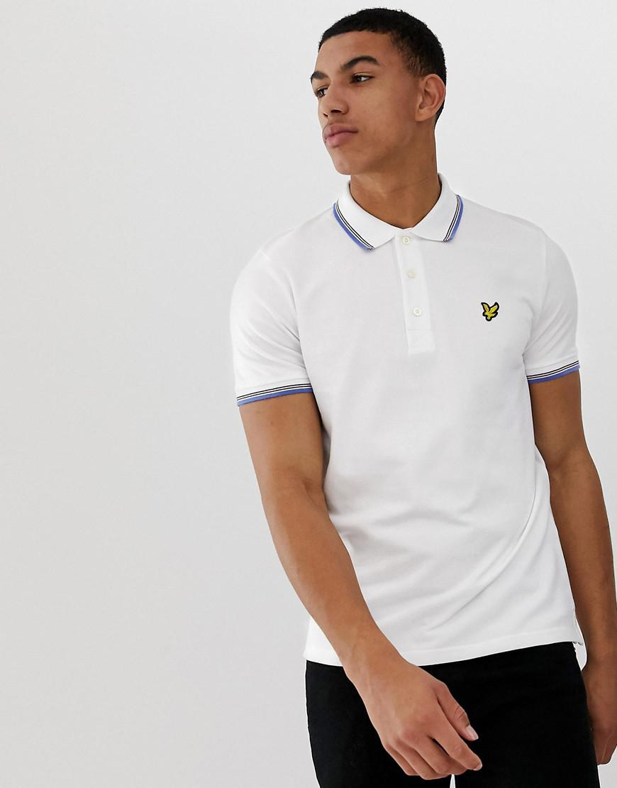 6797b4a034c Lyle   Scott Tipped Polo In White in White for Men - Lyst