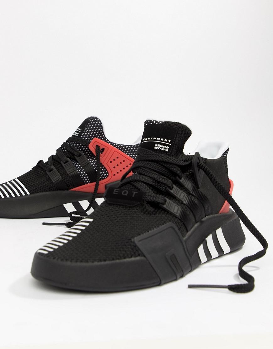 sports shoes 0d06a 0a1f9 adidas Originals. Mens Eqt Bask Adv Sneakers In Black Aq1013