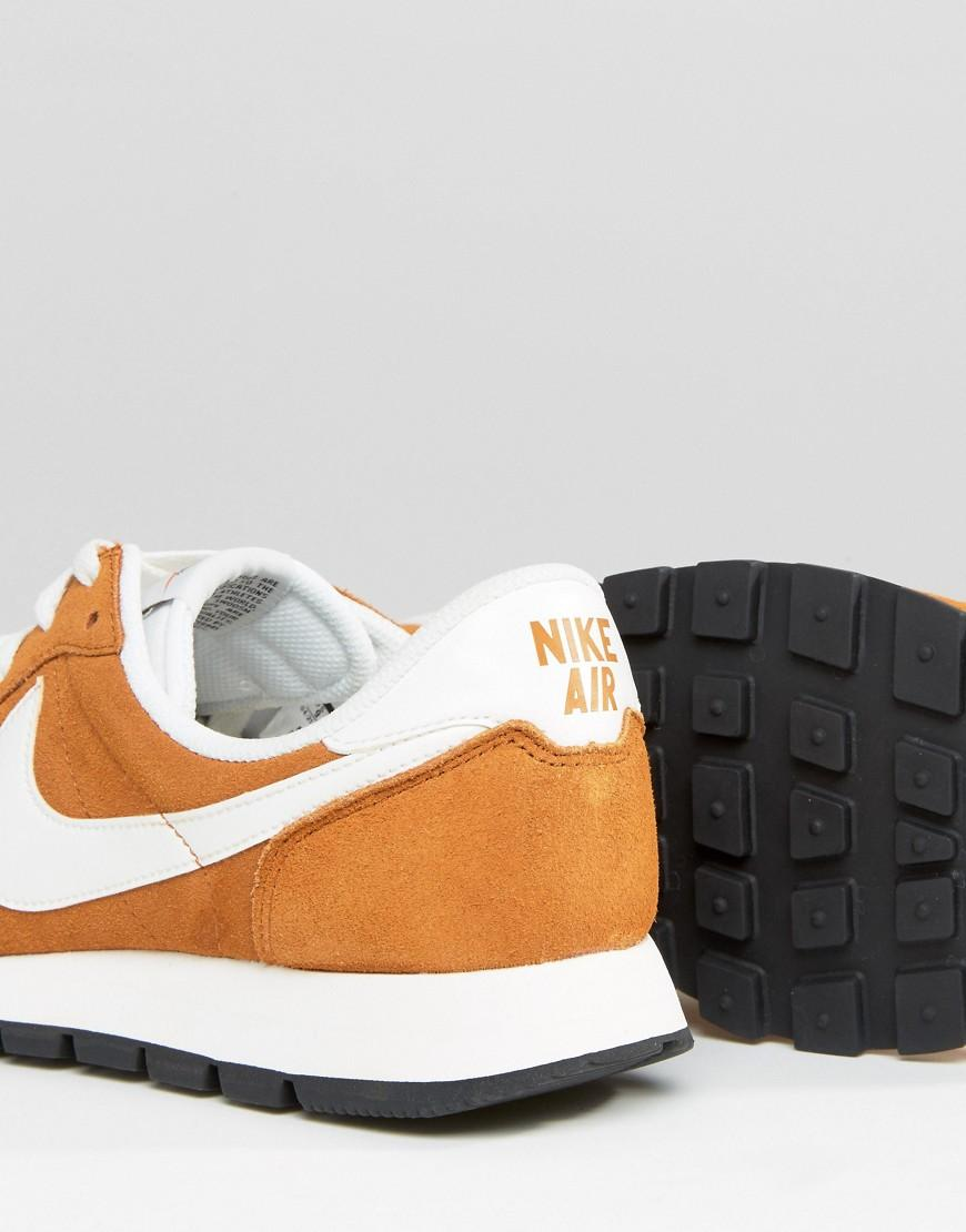 8983232d03ce Nike Air Pegasus 83 Leather Trainers In Orange 827922-202 in Orange ...