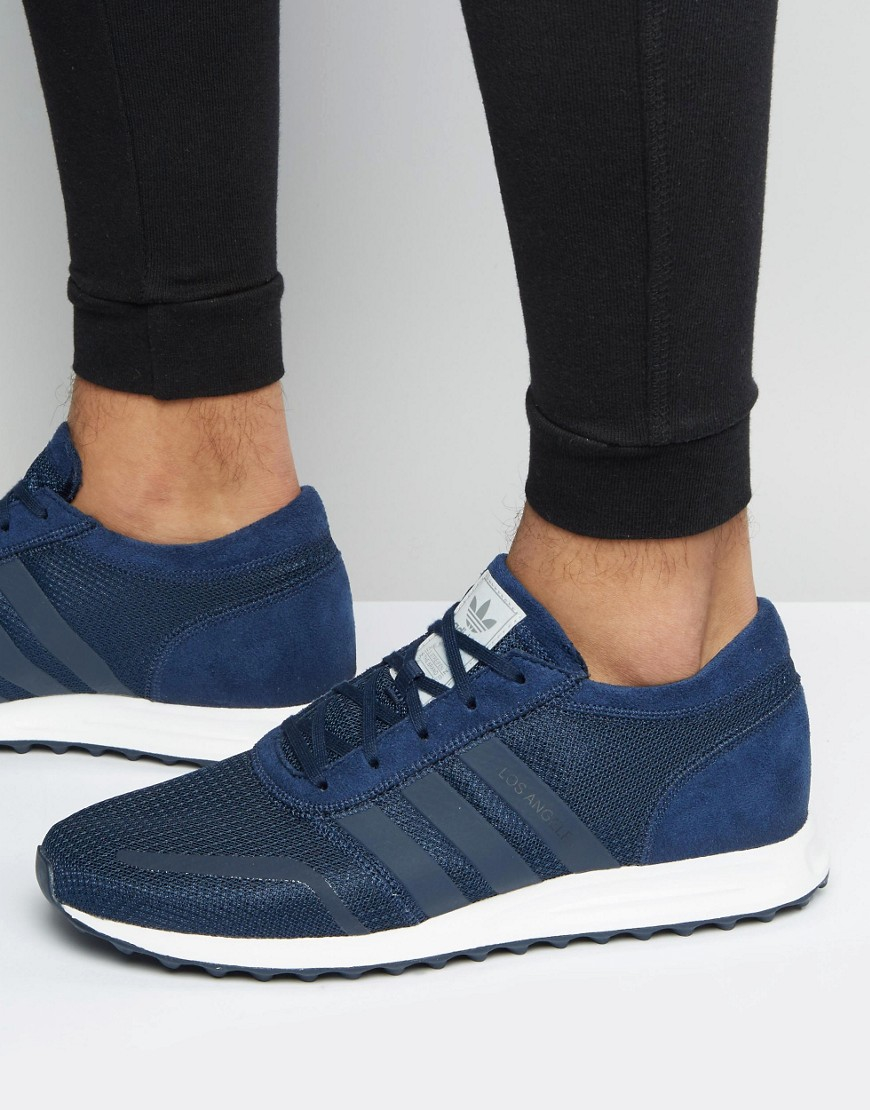 uk availability 6967a 88767 ... sale lyst adidas originals los angeles trainers in navy s31532 in blue  2e503 e3447