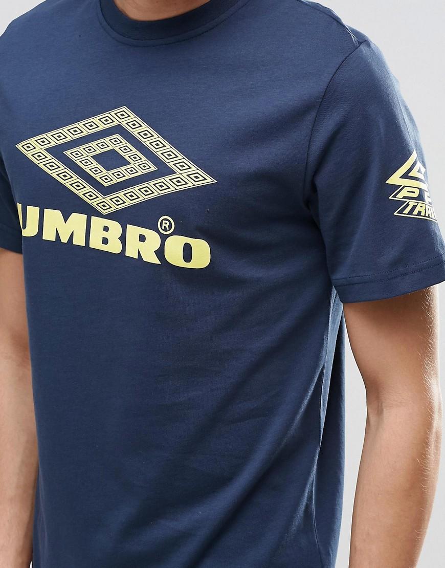 Umbro T Shirt With Largo Logo In Blue For Men Navy Lyst