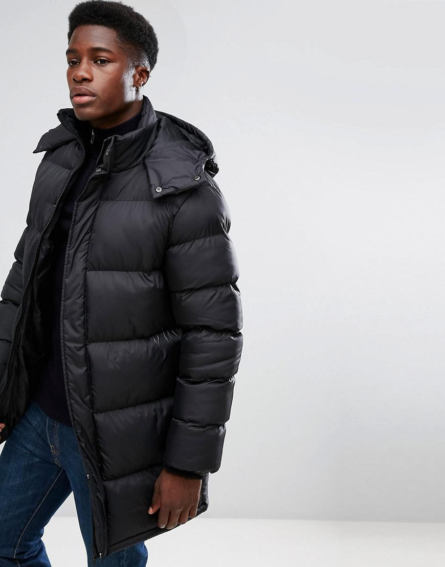 French Connection Padded Hooded Jacket In Black For Men Lyst