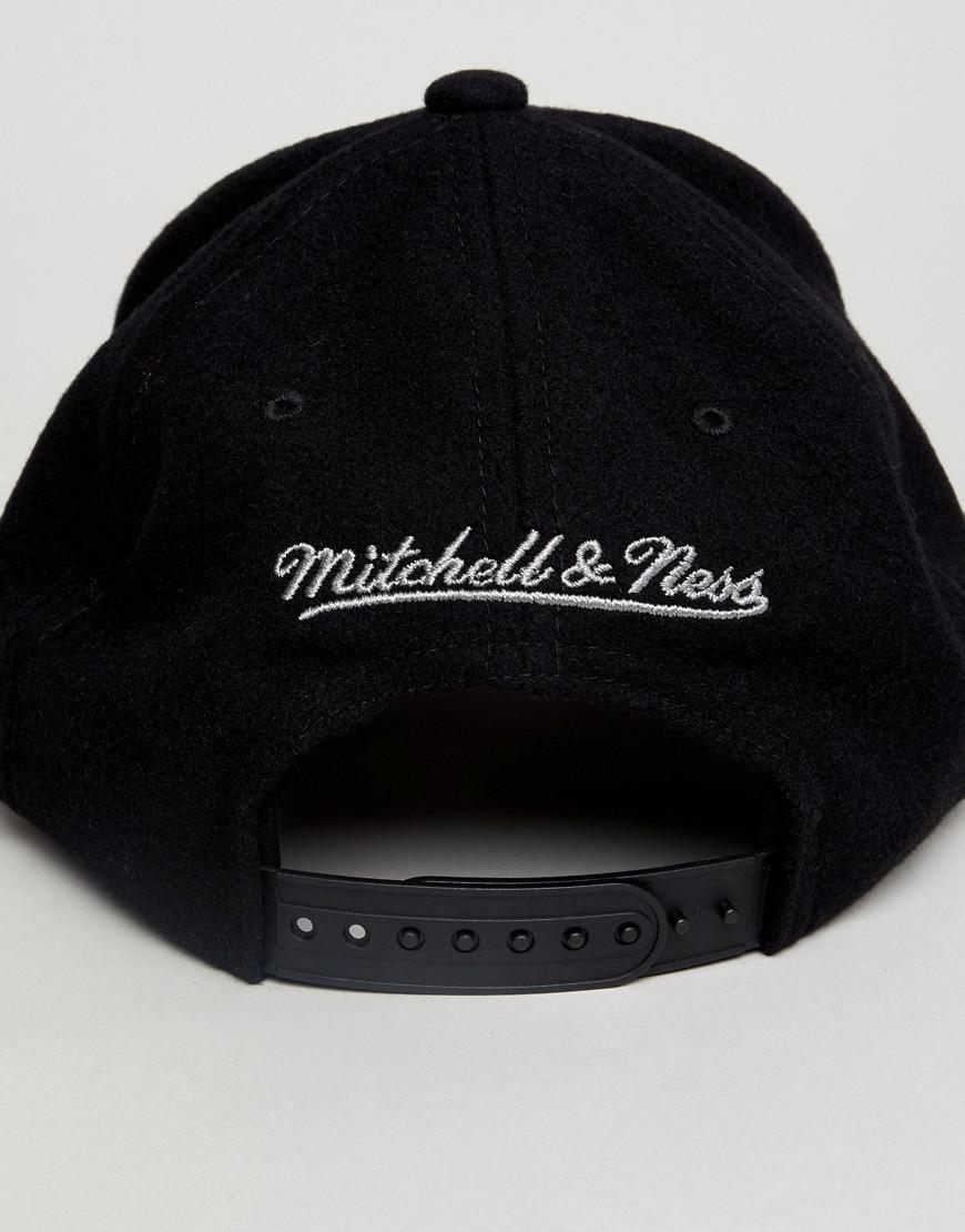 Adjustable Baseball Cap Winter Suede - Grey Mitchell & Ness o1Fb1
